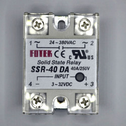 SOLID STATE RELAY,DC/AC,3-32VDC I/P,40A