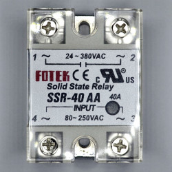 SOLID STATE RELAY,AC/AC,80-250VAC I/P,40A SSR-40AA