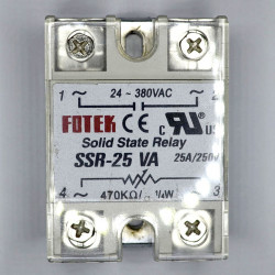 SOLID STATE RELAY,ADJUSTABLE,250K ohm@110V,25A