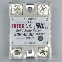 SOLID STATE RELAY,DC/DC,3-32VDC I/P,40A
