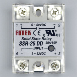 SOLID STATE RELAY,DC/DC,3-32VDC I/P,25A