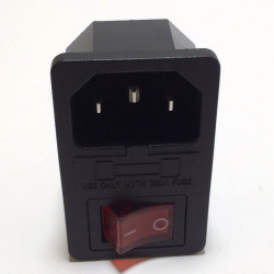 ROCKER SWITCH W/ IEC SOCKET AND FUSE HOLDER (SNAP)