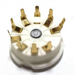 TUBE SOCKET 9-PIN PCB MOUNT