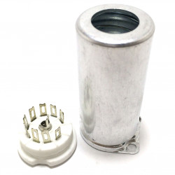 TUBE SOCKET 9-PIN W/SHIELD