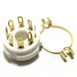 TUBE SOCKET 8 PIN CHASSIS MOUNTED GOLD