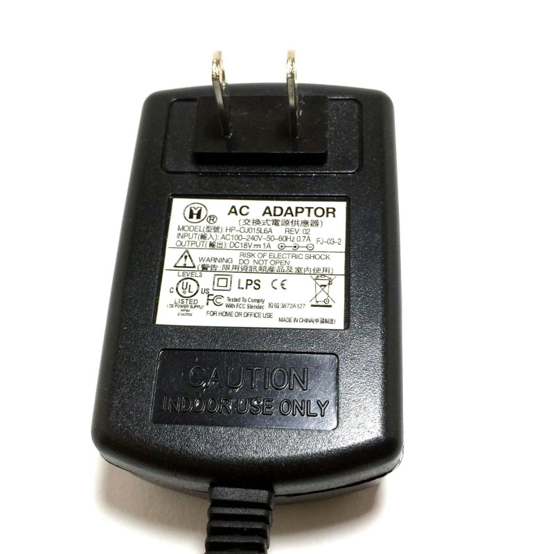 POWER ADAPTER, AC/DC, SWITCHING, 18V, 1A, CEN +