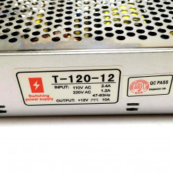 POWER SUPPLY, AC/DC, SWITCH,12V,10A (CHINA/CHASIS)