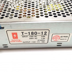 POWER SUPPLY, AC/DC, SWITCH,12V,15A (CHINA/CHASIS)