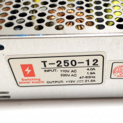 POWER SUPPLY, AC/DC, SWITCH,12V,20A (CHINA/CHASIS)