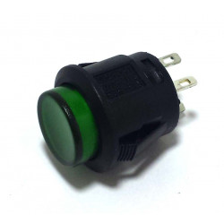 PUSH BUTTON GREEN ON/OFF LATCH R13-523BL