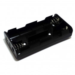BATTERY HOLDER, Cx4, 2x2 SIDE BY SIDE TO 9V CLIPS