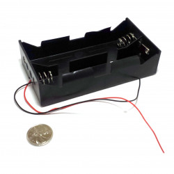 BATTERY HOLDER, Dx4, W/ WIRE