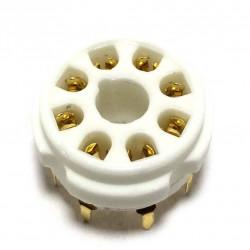 CERAMIC TUBE SOCKET 8-PIN (PCB) GOLD PLATED
