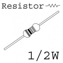RESISTORS 1/2W 1.5M 5% 10PCS