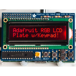 RGB LCD (-) PLATE KIT W/16X2 DISPLAY RASPBERRY PI