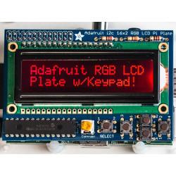 RGB LCD (-) PLATE KIT W/16X2 DISPLAY RASPBERRY PI