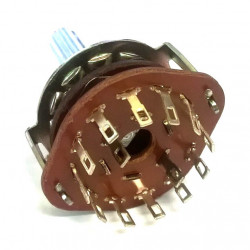 ROTARY SWITCH 2P/6T METAL FRAME