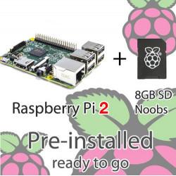 RASPBERRY PI 2 MODEL B WITH 8GB NOOBS