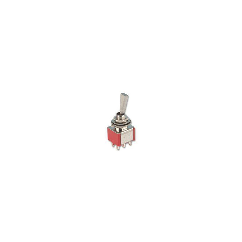 TOGGLE SWITCH,DPDT,ON-ON,5A,SOLDER LUG,FLAT KNOB