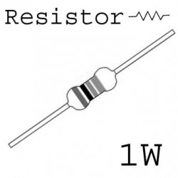 RESISTORS 1W 1MEG 5% 10PCS