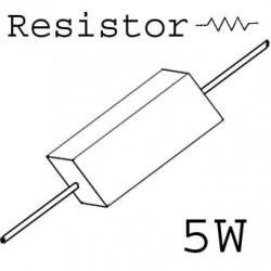 RESISTORS 5W 0.47OHM 5%