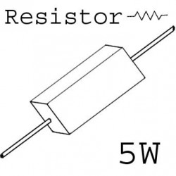 RESISTORS 5W 0.39OHM 5%
