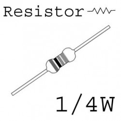 RESISTORS 1/4W 75OHM 5% 10PCS