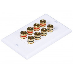 WALL PLATE 4 SPEAKER HIGH QUALITY GOLD