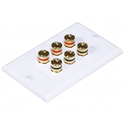 WALL PLATE 3 SPEAKER HIGH QUALITY GOLD