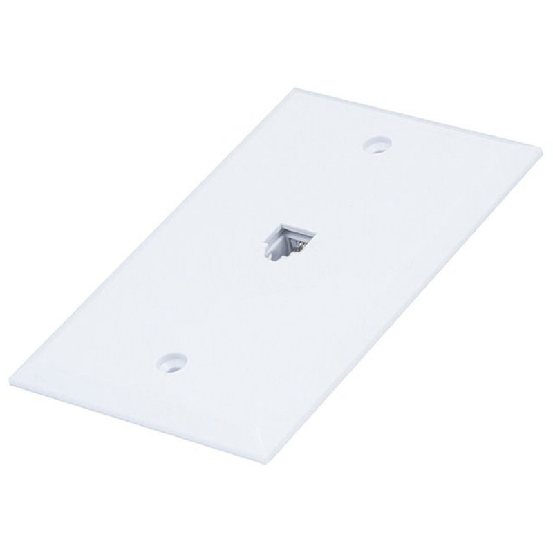 WALL PLATE SURFACE MOUNT JACK 6P/4C
