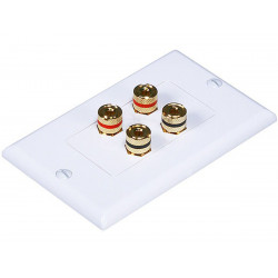 WALL PLATE 2 SPEAKER HIGH QUALITY GOLD