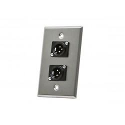 WALL PLATE XLR MALE TWO PORTS
