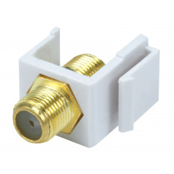 KEYSTONE F CONNECTOR (F/F) INSERT SJ-F WHITE