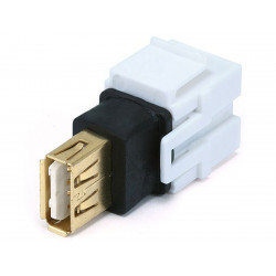 KEYSTONE USB A(F) - A(F) COUPLER ADAPTER