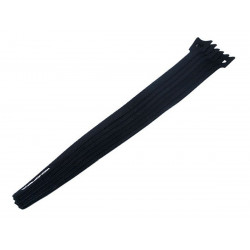 "CABLE TIE 13"" VELCO BLACK 10PCS"