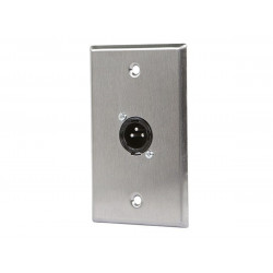 WALL PLATE XLR MALE ONE PORT