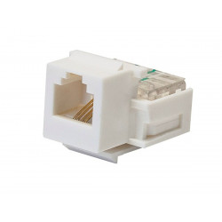 RJ11 TOOLLESS KEYSTONE JACK - WHITE