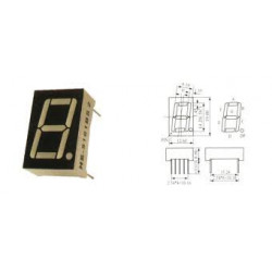 LED 7-SEGMENT DISPLAY CATHOD HS-5161AS