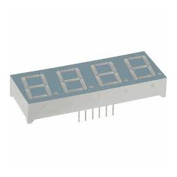 7 SEGMENT LED DISPLAY, 4 DIGIT, RED, CC (-)