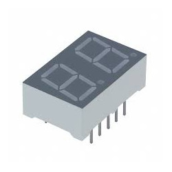LED 7 SEGMENT 2 DIG COM ANODE DISPLAY