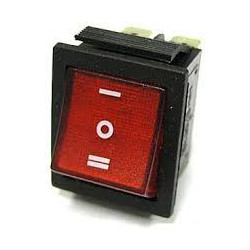 ROCKER SWITCH 6PIN ON-OFF-ON RED KCD4-6P