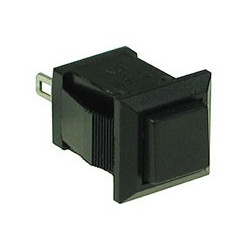 PUSH BUTTON SQUARE TB-04 1A 125VAC (BLUE) MOMENTARY