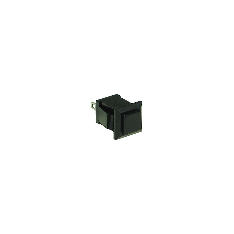 PUSH BUTTON SQUARE TB-04 1A 125VAC (BLACK) MOMENT.