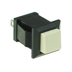 PUSH BUTTON SQUARE TB-04 1A 125VAC (WHITE) MOMENTARY