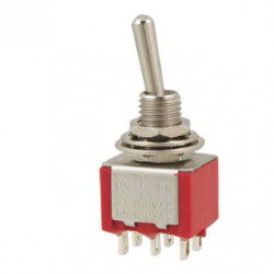 TOGGLE SWITCH,DPDT,ON-OFF-(ON),5A,SOLDER LUG