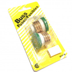 FUSE, BUSS P-TYPE, GLASS, 30A