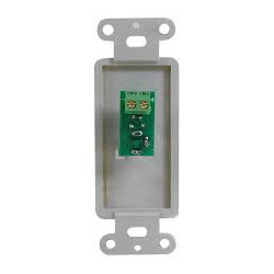 WALL PLATE SINGLE DC 2.1MM (F) JACK