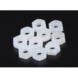 SCREW NYLON PLASTIC M3 NUT 10PCS