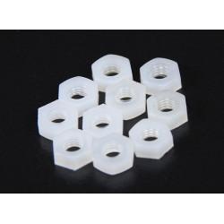 SCREW NYLON PLASTIC M3 NUT 10PCS