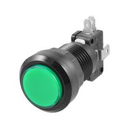 PUSH BUTTON SWITCH GREEN W/ MICRO SWITCH 12V LED